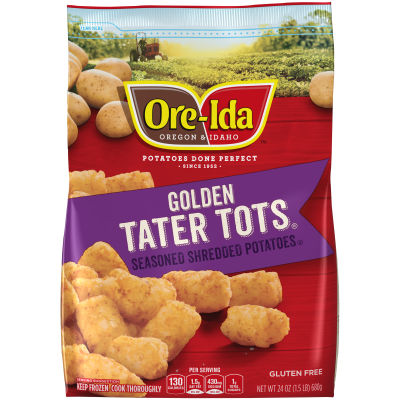 Ore-Ida Golden Tater Tots 24 oz Bag