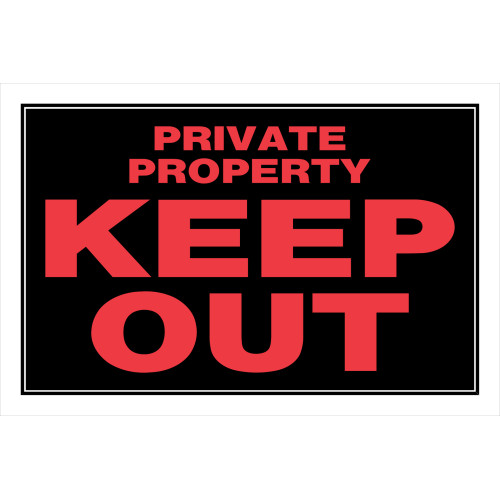 Private Property Keep Out Sign (8