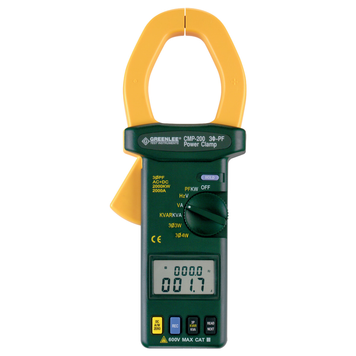 CLAMP METER-TRMS 2000A PWR FT CALIB