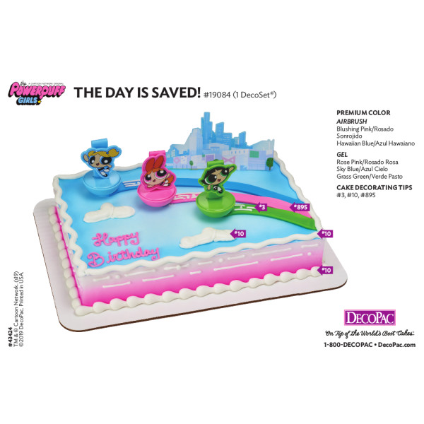 The Powerpuff Girls™ The Day is Saved! Cake Decorating Instruction Card