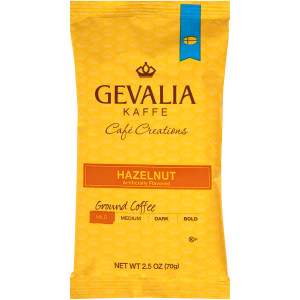 GEVALIA Hazelnut Roast & Ground Coffee, 2.5 oz. Bag (Pack of 24) image