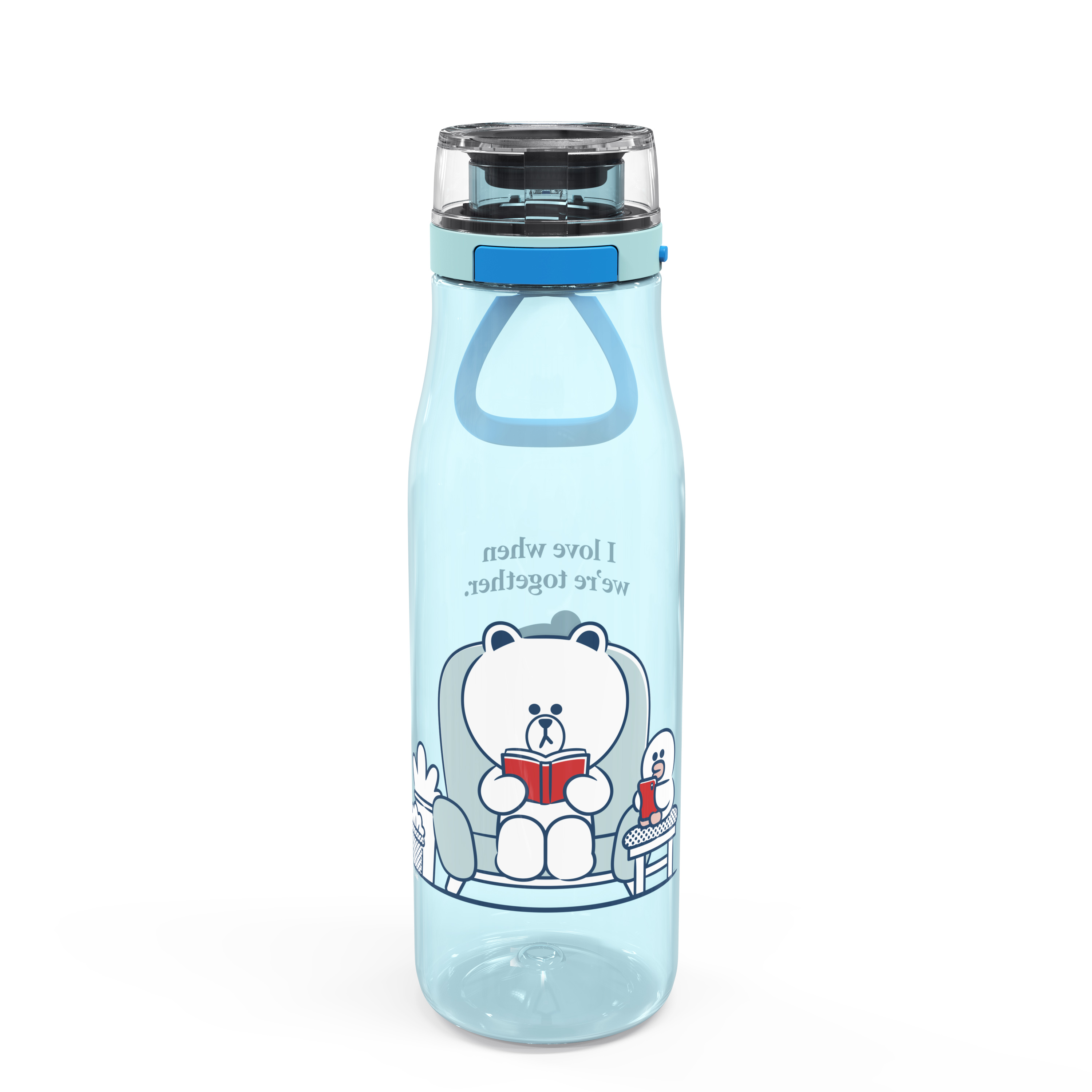Line Friends 25 ounce Water Bottle, Brown and Sally slideshow image 1