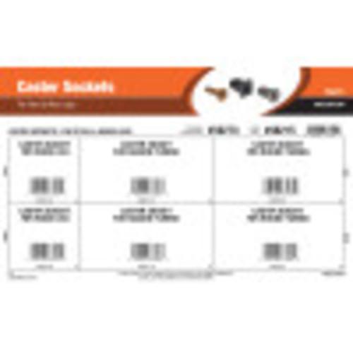 Caster Sockets Assortment (For Steel & Wood Legs)