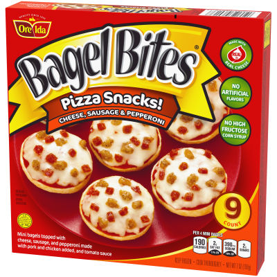 Bagel Bites Cheese, Sausage & Pepperoni Pizza Snack 9 count Box