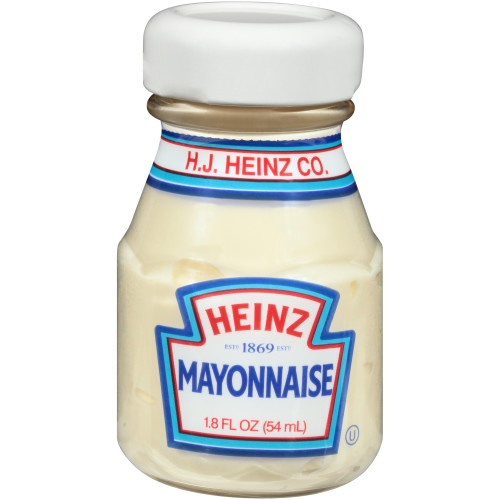 HEINZ Single Serve Mayonnaise, 1.8 oz. Roomservice Bottle (Pack of 60)