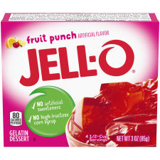Jell-O® Fruit Punch Gelatin Mix, 3 oz Box
