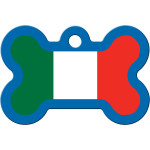 Italian Flag Large Bone Quick-Tag