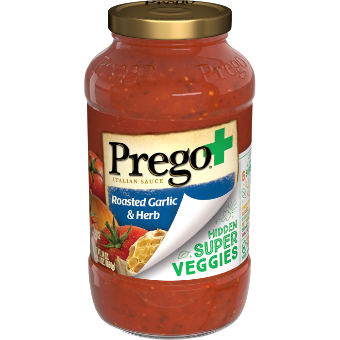 Prego+ Hidden Super Veggies Italian Tomato Sauce with Roasted Garlic and Herb