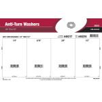 """Anti-Turn Washers Assortment (1/4"""" thru 1/2"""")"""