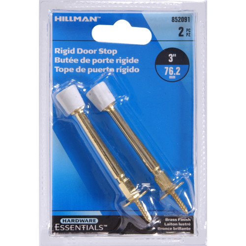 Hardware Essentials Utility Rigid Door Stop Brass Plated