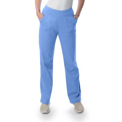Landau ProFlex Scrub Pants for Women: 4 Pocket, Modern Tailored Fit, Stretch Yoga Waist , Straight Leg Medical Scrubs 2043-Landau