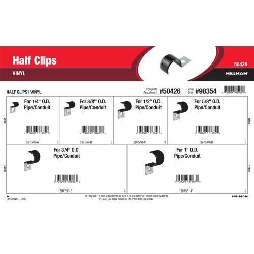 Vinyl Half Clips Assortment