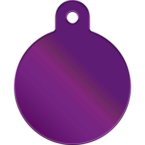 Purple Large Circle Quick-Tag 5 Pack