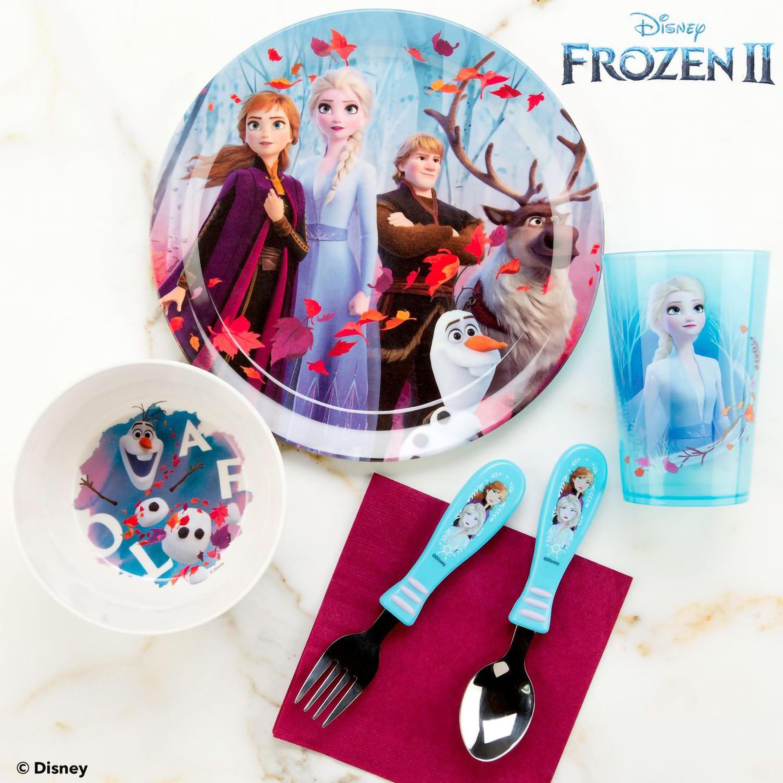 Disney Frozen 2 Movie Dinnerware Set, Anna, Elsa and Friends, 5-piece set slideshow image 10