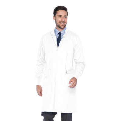 Landau 2 Pocket Unisex Dental Lab Coat - Classic Fit, High Neck, Full Length 3176-Landau