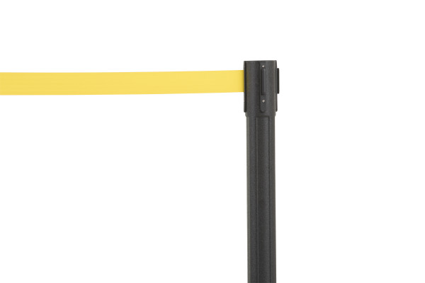 Sentry Stanchion - Black with Yellow Belt 5