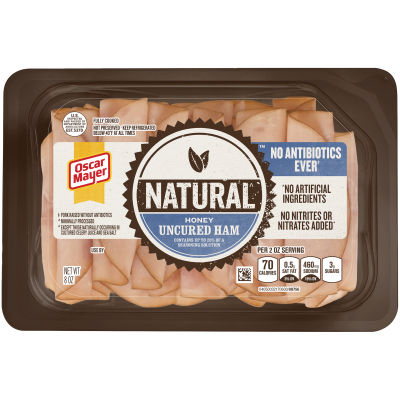 Oscar Mayer Natural Honey Uncured Ham 8 oz Tray