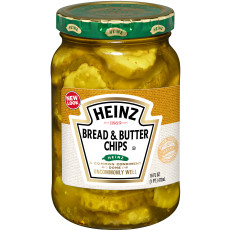 Heinz Bread'N'Butter Sweet And Spicy Slices Pickles, 16 fl oz Jar image
