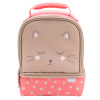 Soft Lines 2-compartment Reusable Insulated Lunch Bag, Kitties slideshow image 2