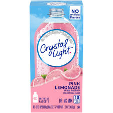 Crystal Light On-the-Go Pink Lemonade Drink Mix 10 - 0.13 oz Packets
