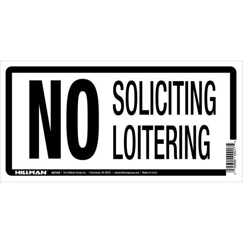 No Soliciting Sign (5