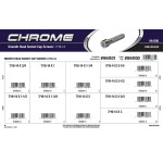 "Chrome Smooth-Head Socket Cap Screws Assortment (7/16""-14 Thread)"