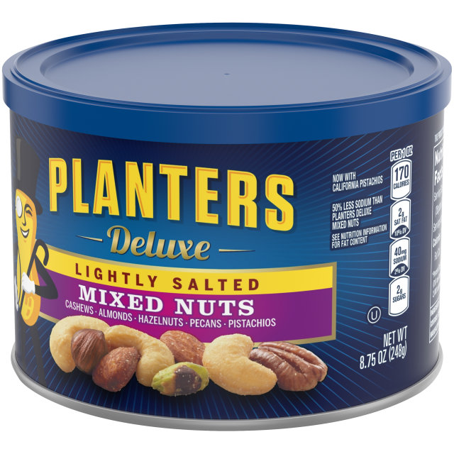 PLANTERS Deluxe Lightly Salted  Mixed Nuts 8.75 oz Can