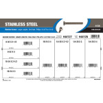 "Stainless Steel Phillips Oval-Head Long Length Machine Screws Assortment (#8-32 thru 1/4""-20)"