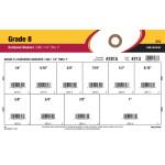 "Grade 8 SAE Hardened Flat Washers Assortment (1/4"" thru 1"")"
