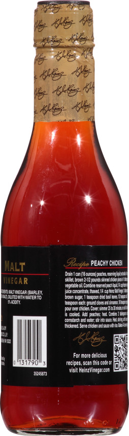 Heinz Gourmet Malt Vinegar, 6 - 12 fl oz Bottles
