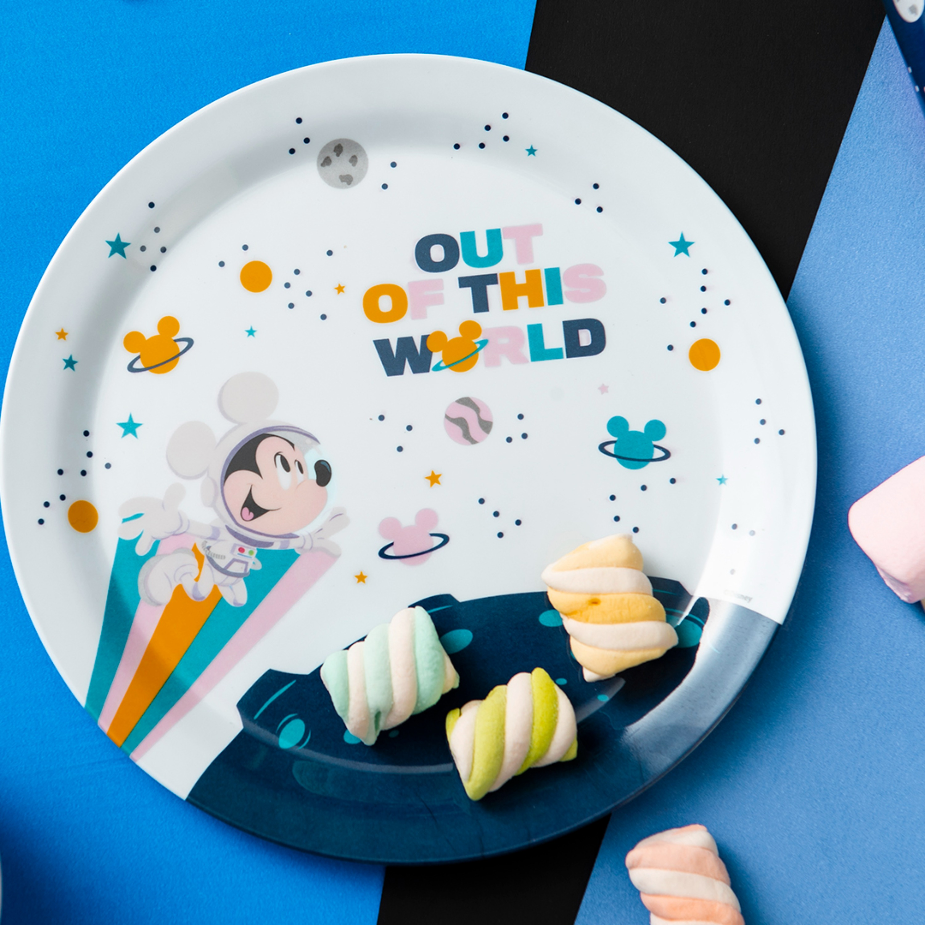 Disney Plate, Bowl, Tumbler and Flatware Set, Outer Space Mickey Mouse, 5-piece set slideshow image 5