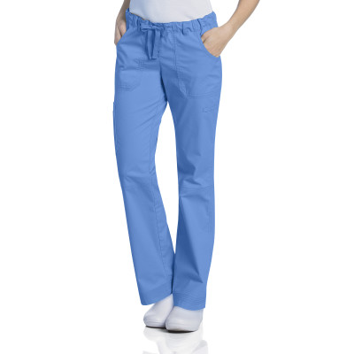 Landau Prewashed Cargo Scrub Pants for Women: Stretch, Drawstring, Straight Leg, 6 Pocket 2024-Landau