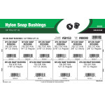 "Nylon Snap Bushings Assortment (1/4"" thru 1/2"" Inner Diameters)"