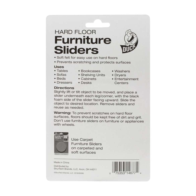 Felt Hard Floor Furniture Sliders