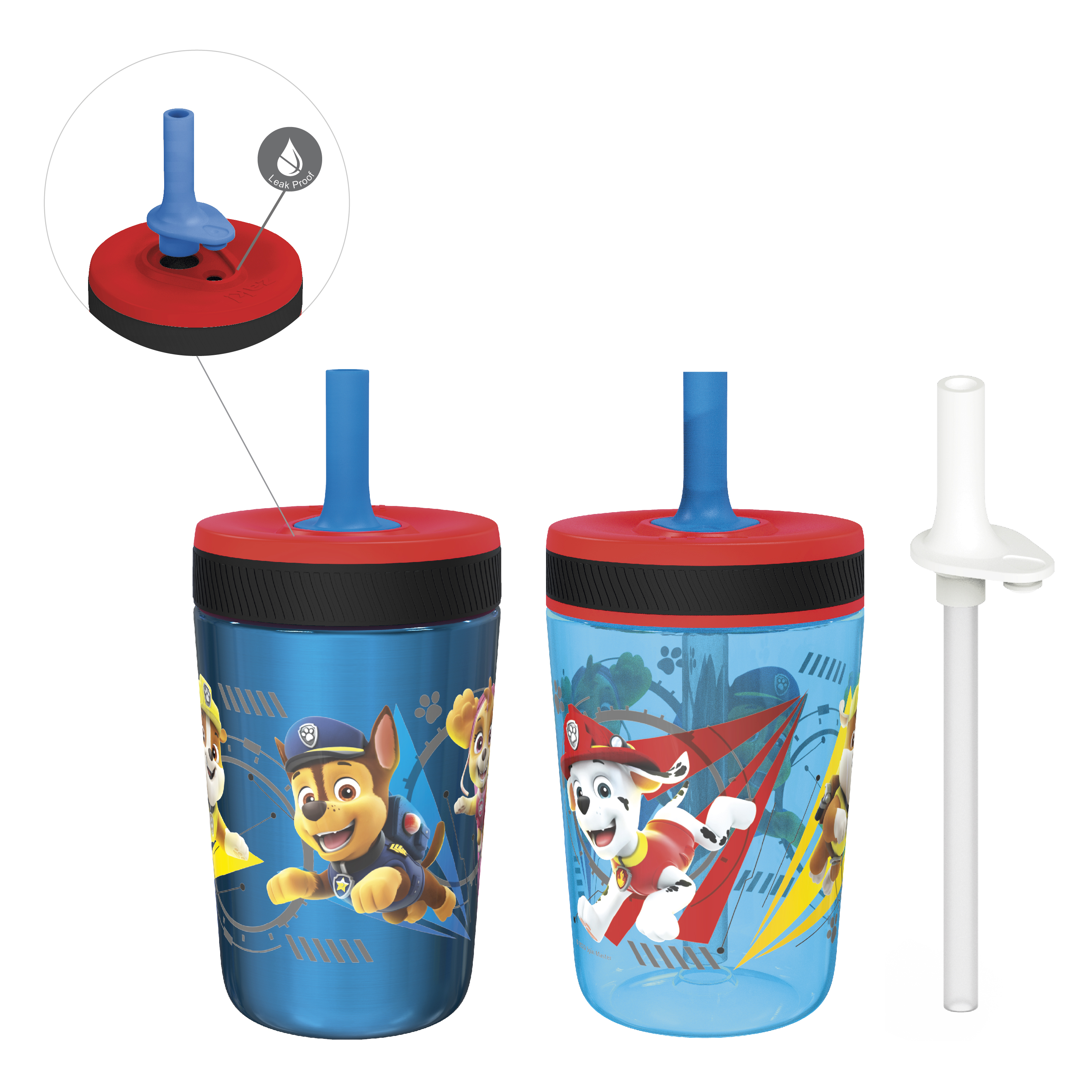 Paw Patrol 15  ounce Plastic Tumbler, Chase, Skye, Marshall and Friends, 3-piece set slideshow image 1
