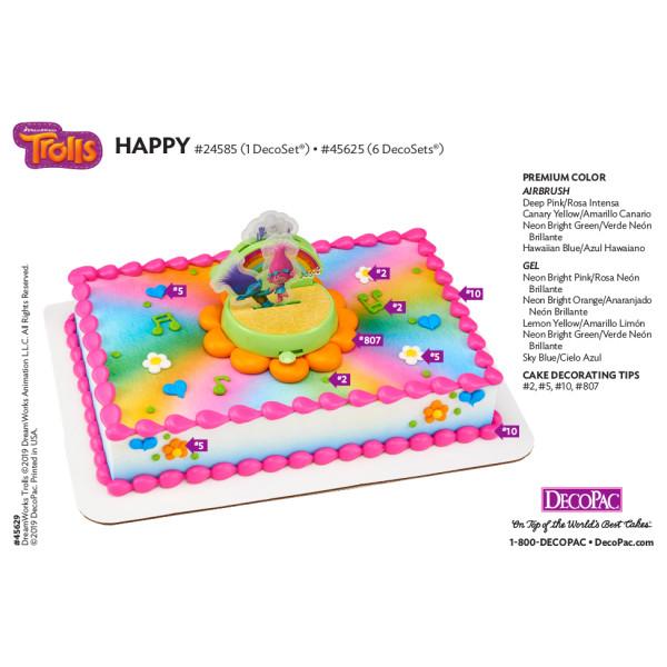 DreamWorks - Trolls Happy Cake Decorating Instruction Card