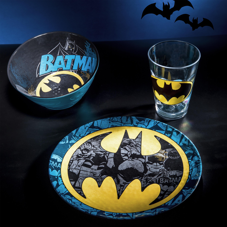 DC Comics Plate, Bowl and Tumbler Set, Batman, 3-piece set slideshow image 2