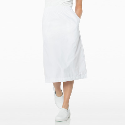 Landau Essentials Nurse Scrub Skirt for Women: Elastic Waist, Classic Relaxed Fit, Durable A-Line 2226-