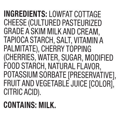 Breakstone's Cottage Doubles Lowfat Cottage Cheese & Black Cherry Topping 2% Milkfat, 4.7 oz Cup