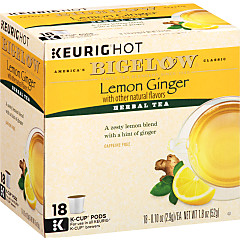 Lemon Ginger K-Cups - Case of 4 boxes - total of 72 k-cups