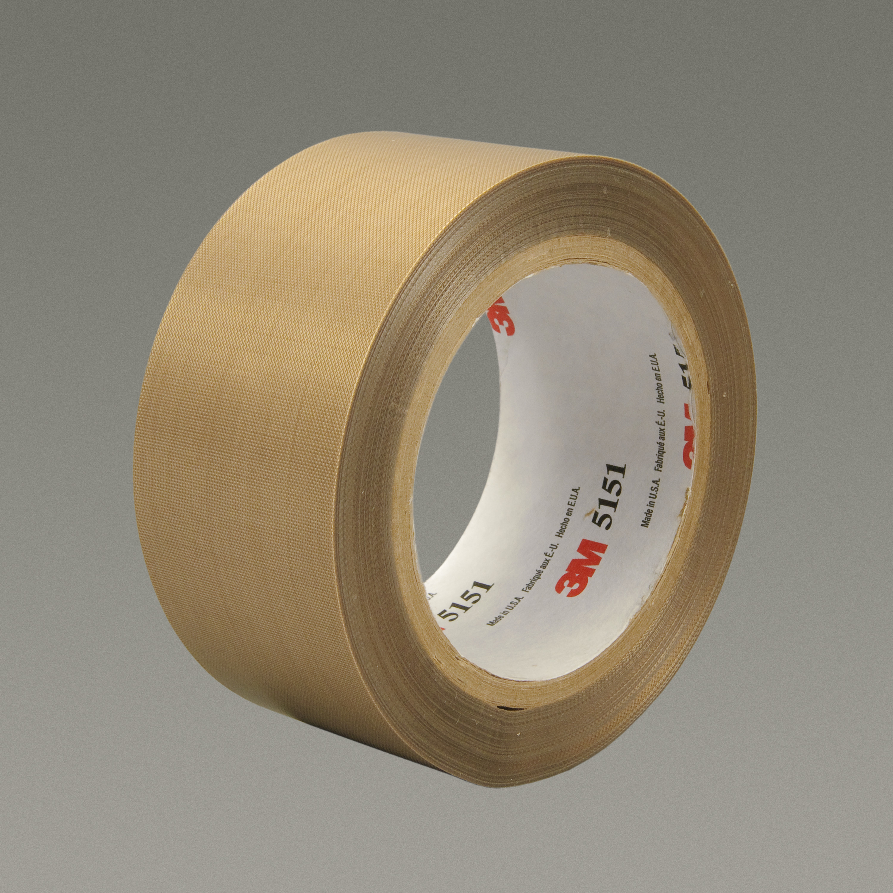 3M™ General Purpose PTFE Glass Cloth Tape 5151PL, Light Brown, 36 in x 36 yd, 5.3 mil, 1 roll per case