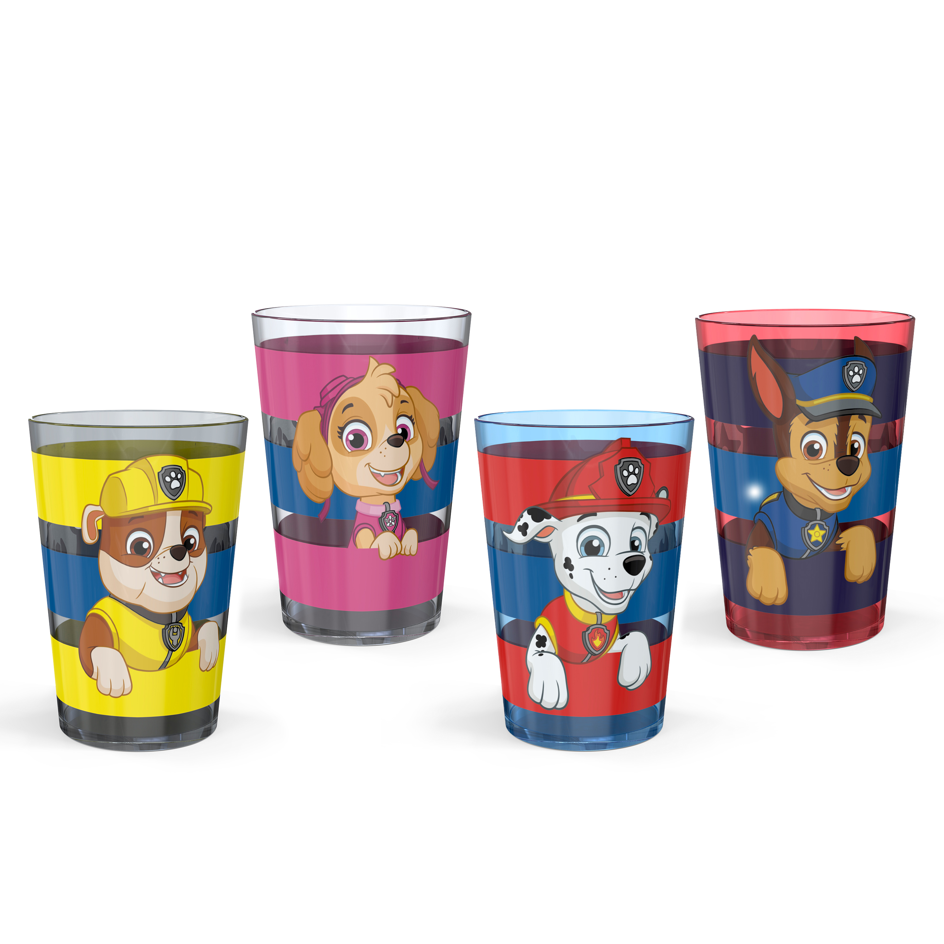 Paw Patrol 14.5 ounce Tumbler, Chase, Skye and Friends, 4-piece set slideshow image 1