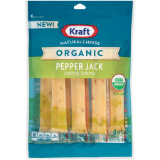 Kraft Organic Pepper Jack Natural Cheese Sticks 8 count Pouch