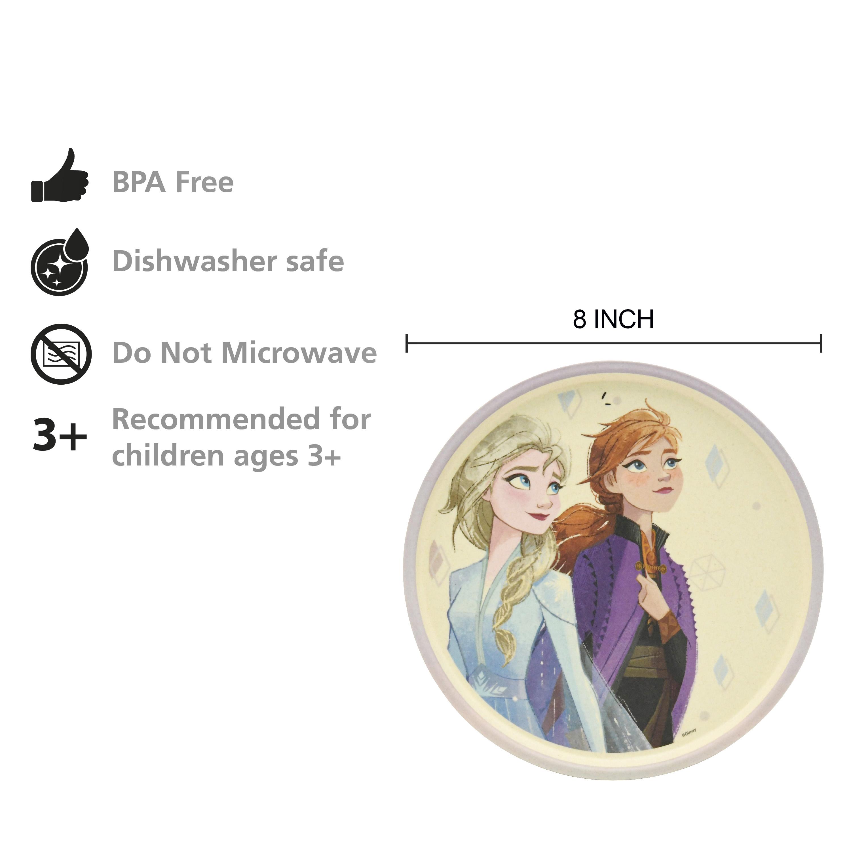 Disney Frozen 2 Movie Kids 3-piece Dinnerware Set, Anna and Elsa, 3-piece set slideshow image 4