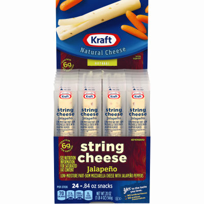Kraft String Jalapeno Low-Moisture Part-Skim Cheese 24 count Box