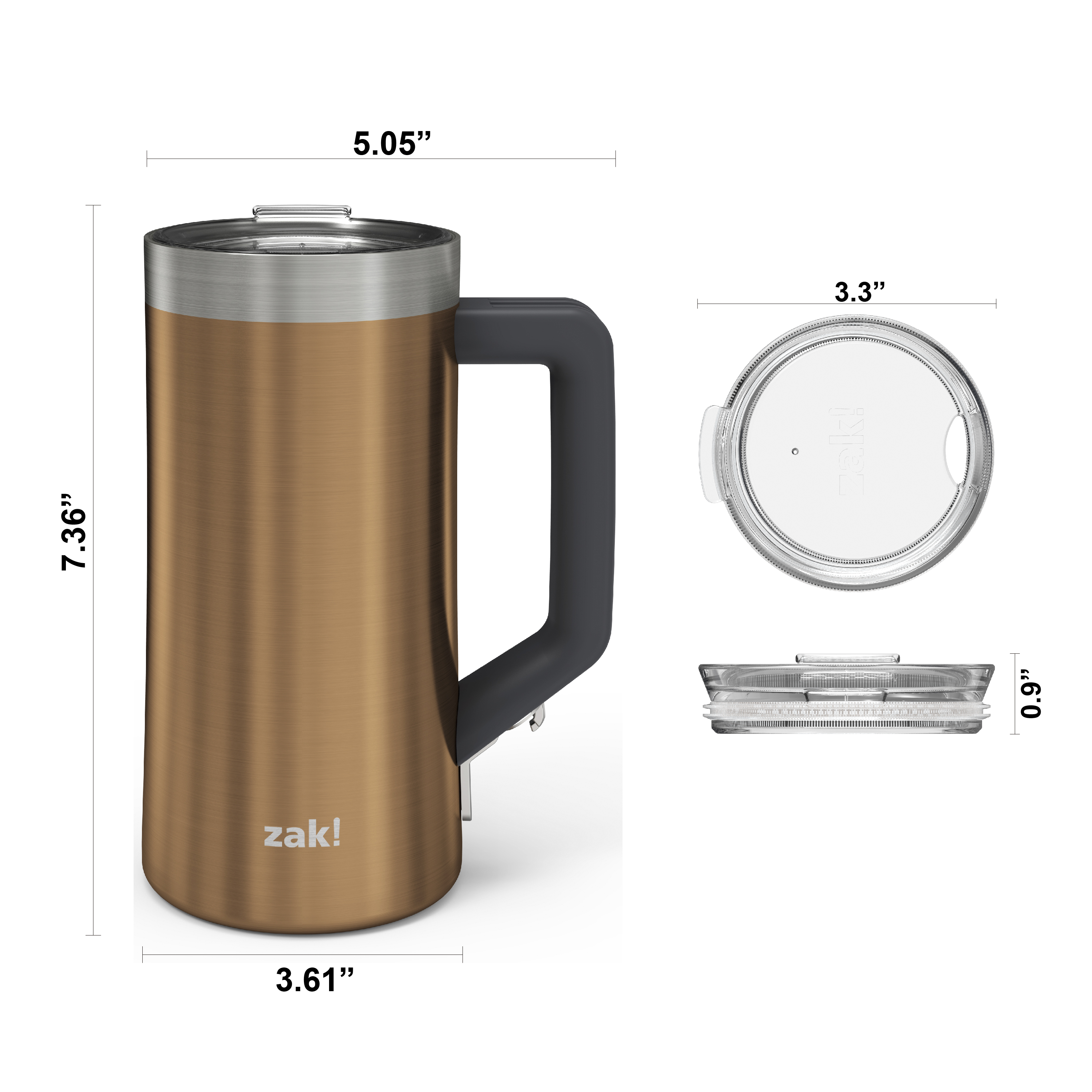 Creston 25 ounce Vacuum Insulated Stainless Steel Tumbler, Copper slideshow image 5