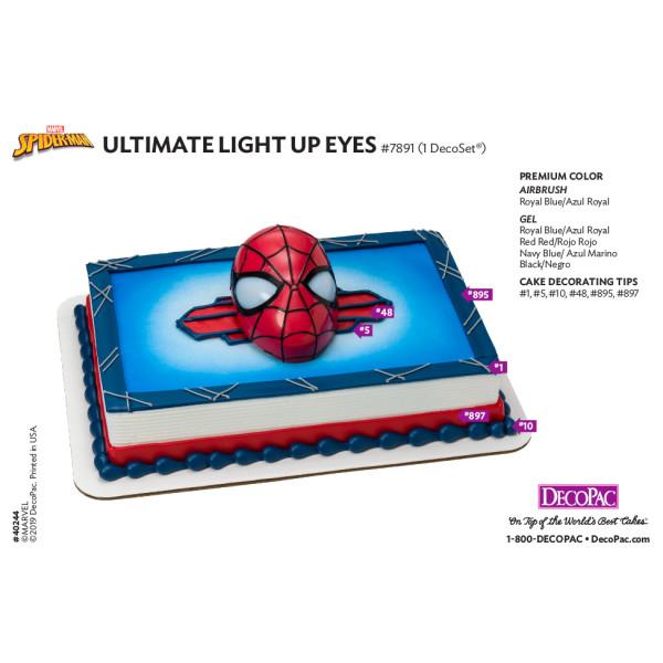 MARVEL Spider-Man™ Ultimate Light Up Eyes Cake Decorating Instruction Card
