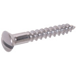 Zinc Oval Head Slotted Wood Screws