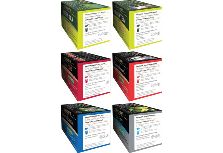 Ingredient panels of Mixed Case of Decaffeinated Teas - 6 boxes