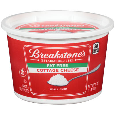 Breakstone's Small Curd Fat-Free Cottage Cheese 16 oz Tub